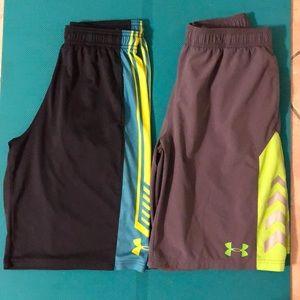 Under Armour Bottoms - Under Armour sport shorts bundle of (2) boys sz L